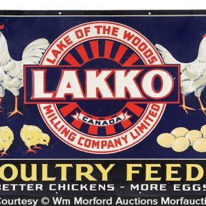 Lakko Poultry Feeds Sign
