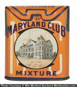 Maryland Club Mixture Tobacco Tin