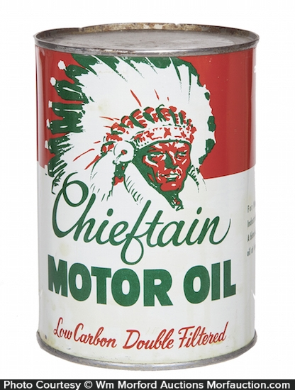 Chieftain Motor Oil Can