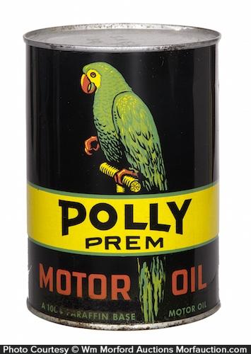 Polly Prem Motor Oil Can