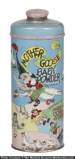 Mother Goose Baby Powder Tin