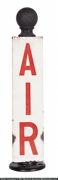 Porcelain Service Station Air Sign