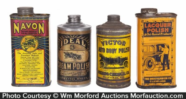 Vintage Car Polish Tins