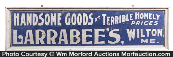 Larrabee's Wooden Store Sign