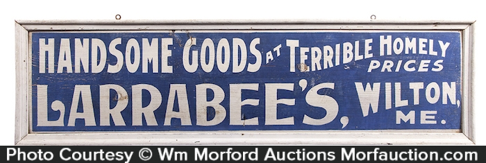Larrabee's Wooden Store Sign