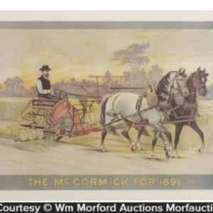 McCormick 1891 Farm Machine Sign