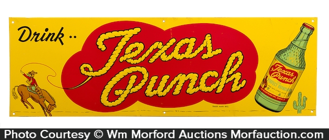 Texas Punch Soda Sign