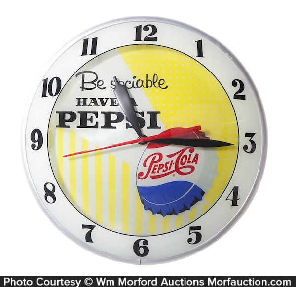 Pepsi Double-Bubble Clock