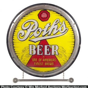 Poth's Beer Light-Up Sign