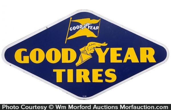 Good Year Tires Porcelain Sign