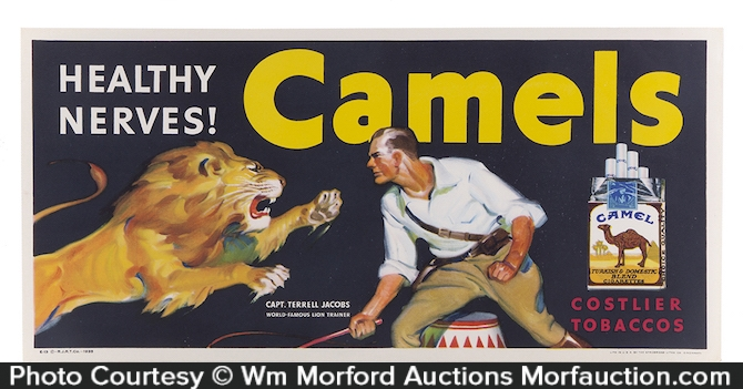Camel Cigarettes Lion Tamer Sign