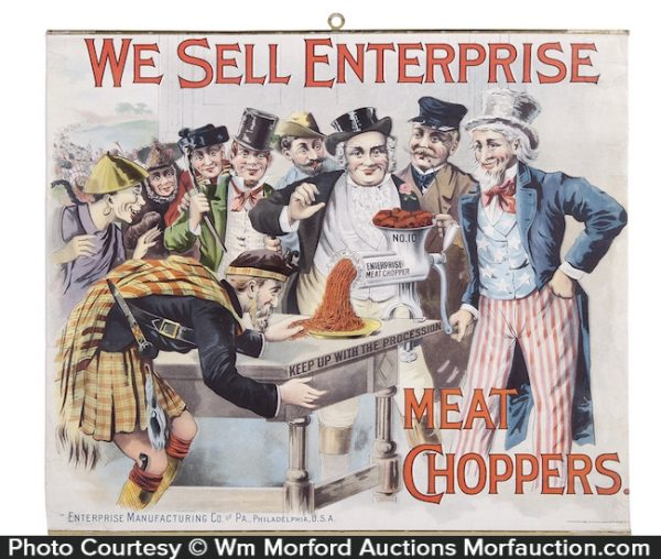 Enterprise Meat Choppers Sign
