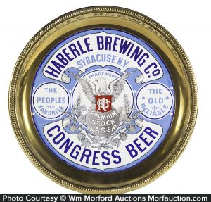 Haberles Brewing Co. Brass Tray