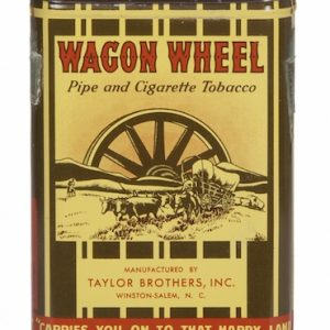 Wagon Wheel Pocket Tobacco Tin