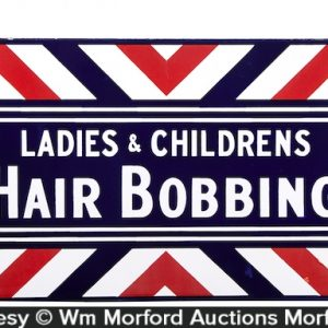 Hair Bobbing Porcelain Sign