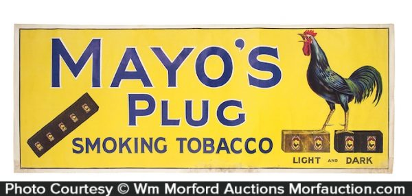 Mayo's Plug Tobacco Sign