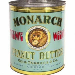 Monarch Peanut Butter Store Tin