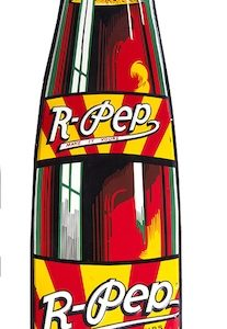 R-Pep Soda Bottle Sign