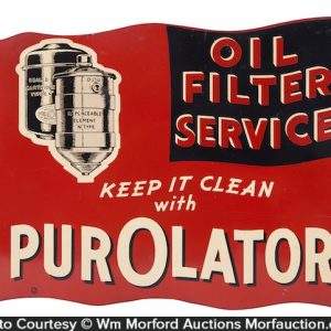 Purolator Oil Filters Sign