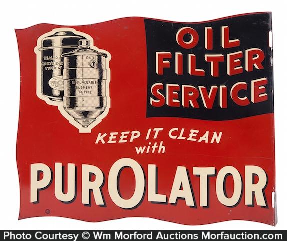 Purolator Oil Filters Sign