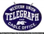 Western Union Telegraph Sign