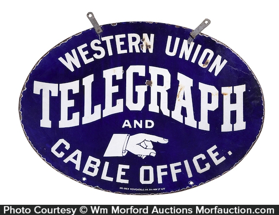 Western Union Telegraph Sign