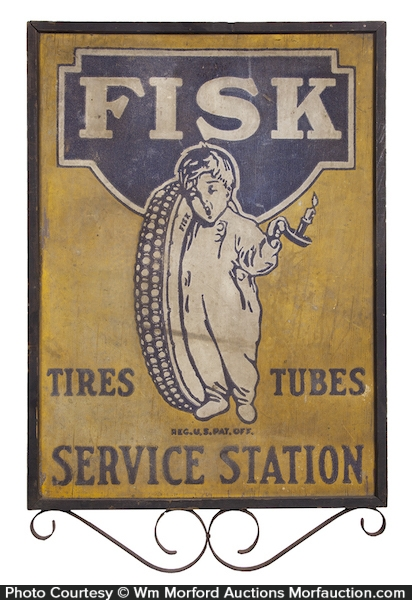Fisk Tires Service Station Sign