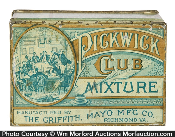 Pickwick Club Mixture Tobacco Tin