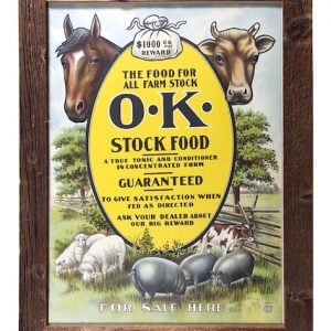 OK Stock Food Sign