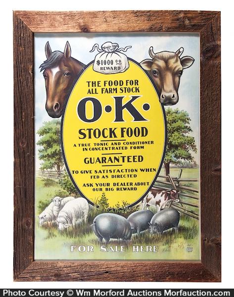 OK Stock Food Sign