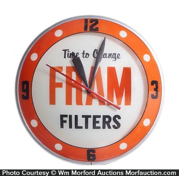 Fram Filters Clock