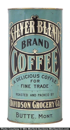 Silver Blend Coffee Tin