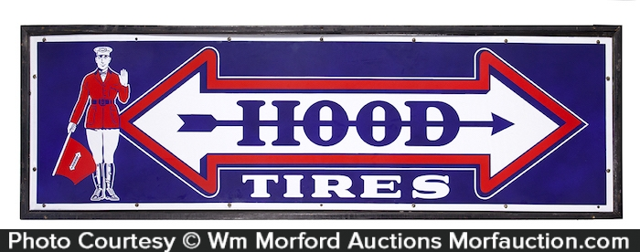 Hood Tires Porcelain Sign