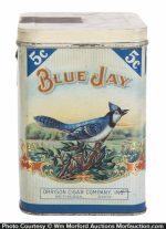 Blue Jay Cigar Can