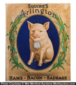 Squire's Arlington Pig Sign