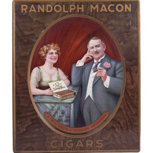 Randolph Macon Cigars Sign