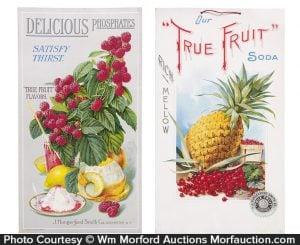 True Fruit Soda Signs
