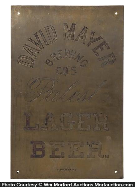 David Mayer Beer Sign