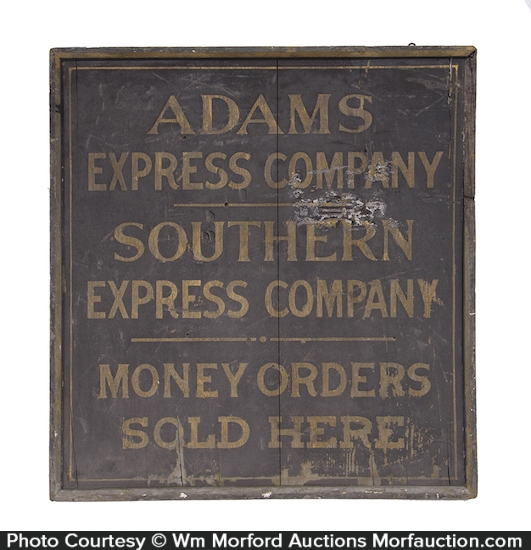 Adams Express Company Wooden Sign
