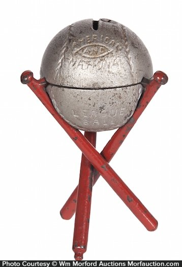 Iron Baseball Bank