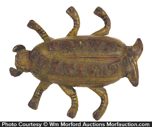 Brown Cultivators Bug Paperweight