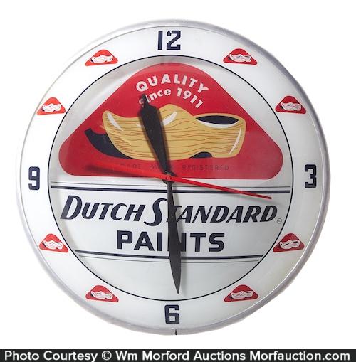 Dutch Standard Paints Clock