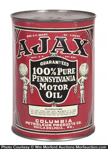 Ajax Motor Oil Can