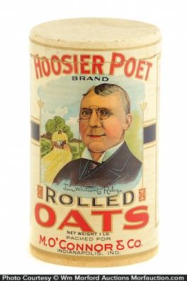 Hoosier Poet Oats Box