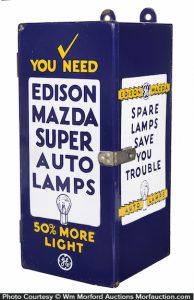 Edison Mazda Auto Lamps Cabinet