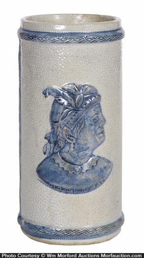 Sleepy Eye Stoneware Vase