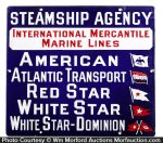 Steamship Agency Porcelai Marine Line Sign