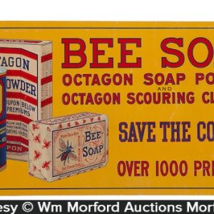 Bee Soap Octagon Sign