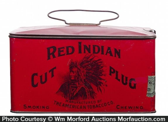 Red Indian Tobacco Pail