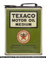 Texaco Medium Motor Oil Can